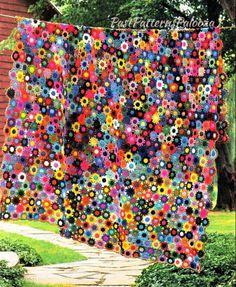 Crochet Borders Crochet Afghan Blanket PDF Meadow Flower Afghan Pattern Motifs Joined As You Go Crochet Afghans, Crochet Stitches, Crochet Hooks, Blanket Crochet, Freeform Crochet, Crochet Motif, Vintage Crochet Patterns, Meadow Flowers, Afghan Blanket