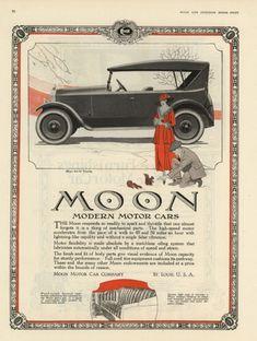Publicidad en prensa. Automóviles Moon.