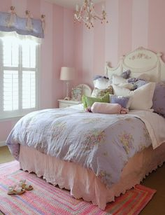 cotton cand pink and blue girls room