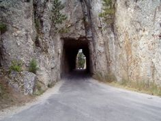 Funny thing when you drive thru these tunnels they all face Mt. I have driven this road, absolutly amazing! Best Places To Travel, Vacation Places, Vacation Spots, Places To See, Vacation Memories, Us Road Trip, Family Road Trips, Needles Highway, South Dakota Vacation