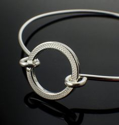 Textured Endless Circle Sterling Silver Bangle by #unkamengifts