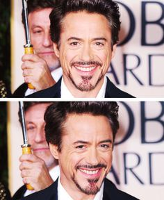 "Robert Downey Jr. at the Golden Globe Awards, 2010. (He won Best Actor for ""Sherlock Holmes."")"