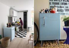 Frigobar no décor! Confira: http://casadevalentina.com.br/blog/detalhes/frigobar-no-decor-2943 #decor #decoracao #interior #design #casa #home #house #idea #ideia #detalhes #details #style #estilo #casadevalentina #cor #color #blue #azul #kitchen #cozinha