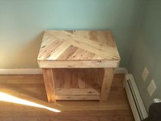Pallet End Table Nightstand-Rustic by HiddenPondsWoodcraft on Etsy