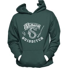 Designer Clothes, Shoes & Bags for Women Nerd Fashion, Teen Fashion Outfits, Cool Outfits, Funny Sweatshirts, Hooded Sweatshirts, Slytherin Pride, Draco, Fandom Outfits, Slytherin