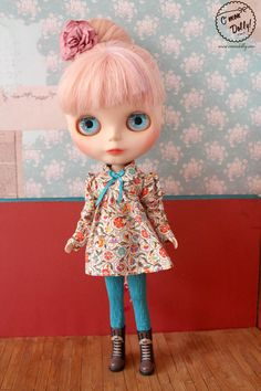 Blythe Licca Retro 60s Liberty Dress Set by cmondolly on Etsy