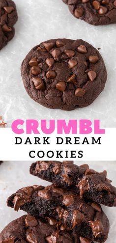 Chocolate Cookie Dough, Chocolate Cookie Recipes, Chocolate Pies, Chocolate Chip Cookies, Chocolate Lovers, Cupcake Cookies, Cat Cookies, Crinkle Cookies, Cupcakes