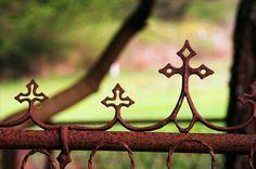 The Old Santa Rosa Chapel cemetery fence, Cambria, CA