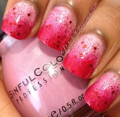 Pink and red gradient #busygirlnails