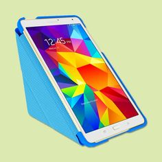 Keep your Samsung Galaxy Tab S 8.4 stylishly well protected with this pop-up, origami-style slim shell case. Several colors available. | rooCASE Origami 3D Slim Shell Folio Case Smart Cover | @overstock