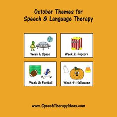 October Themes for Speech & Language Therapy