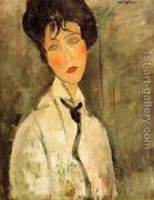 Portrait of a Woman in a Black Tie  by Amedeo Modigliani