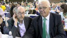 Wussten genau, dass sie gefilmt wurden: Grünen-Politiker Gastel (l.) und Kretschmann.