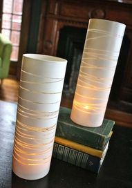 reuse vases with spray paint and string