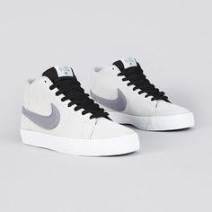 Nike Sb Blazer Mid LR Strata Grey / Metallic Cool Grey
