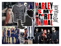 """""""Ash Costello/ New Year's Day"""" by music-lover2017 ❤ liked on Polyvore featuring Leg Avenue, Topshop, Mad Love, Aéropostale, Eugenia Kim, Manic Panic and Kat Von D"""