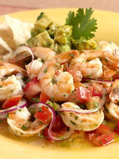 """Ceviche is typically a white flesh ocean fish, scallops or squid in a citrus marinade, the acidity of which """"cooks"""" the seafood.  Its cool tartness is deliciously refreshing."""