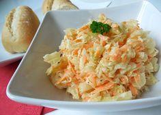 Vyzkoušejte recept na oblíbený salát z bílého zelí, mrkve, celeru a majonézové zálivky. Coleslaw v domácí verzi podle našeho fotoreceptu zvládne úplně každý. A chutná výborně! No Salt Recipes, Low Carb Recipes, Healthy Recipes, Potato Salad, Cabbage, Food And Drink, Health Fitness, Treats, Vegetables