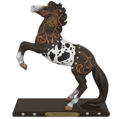 """Trail of Painted Ponies Western Leather Resin Figurine 8.5""""   Trail Of Painted Ponies"""