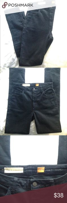 "Pilcro Superscript High Rise Skinny Jeans High rise stretch Denim Skinnies by Pilcro! 98% Cotton/ 2% Spandex. Really dark indigo blue, almost black! Excellent condition, no flaws or wear shown.   Measurements  Rise 10"" Inseam 30"" Anthropologie Jeans Skinny"