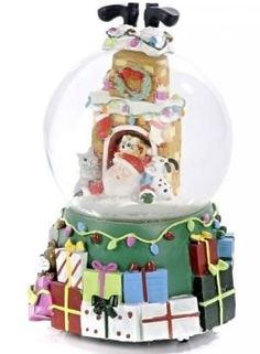 7 Merry Christmas Musical Snow Globes Pinterest
