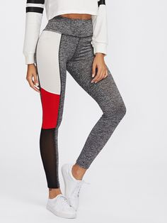 Shop Cut And Sew Marled Knit Leggings online. SheIn offers Cut And Sew Marled Knit Leggings & more to fit your fashionable needs.