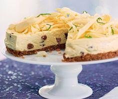 White chocolate Christmas cheesecake