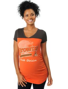 Motherhood Maternity Cleveland Browns NFL Maternity T Shirt Cleveland Browns 6be8ea931