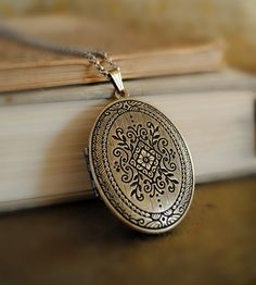 $45 Out of stock Romantic Natural Perfume Locket with Antique finish Etsy.com