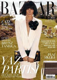 Ieva Laguna Goes Brunette for June Cover of Harpers Bazaar Turkey, Lensed by Koray Birand