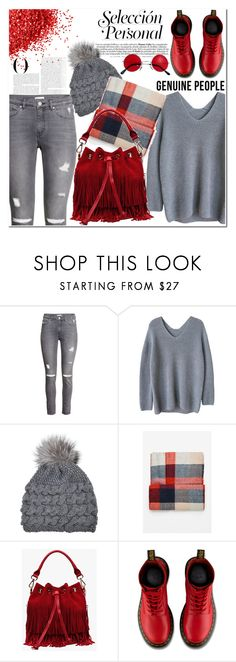 """""""Red"""" by nerma10 ❤ liked on Polyvore featuring H&M, Inverni, Vanity Fair, Dr. Martens, women's clothing, women, female, woman, misses and juniors"""