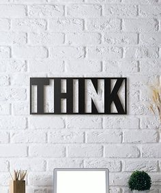 'Think' Metal Wall Décor #zulily #zulilyfinds