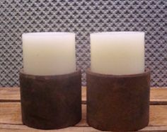 Industrial Rustic Candle Holders- Candles NOT Included - Edit Listing - Etsy