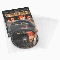 Atlantic - 25 Movie/Game Sleeves Holds up to 50 DVDs, Blu-ray Discs(R) or game discs Stores 2 discs in the space of 1 DVD case Clear sleeve holds 2 discs with c