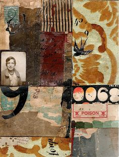 Collage. Vague and disconnected ideas try to create a story in your mind. Great color and graphic composition.