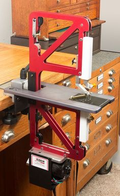 Knew Concepts Precision Power Saw - Fine Metalsmithing Saws Designed for Artisans - The Red Saw - Santa Cruz, CA:
