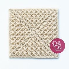 A Kiss to Build a Dream On - free crochet square pattern by Polly Plum at Every Trick on the Hook