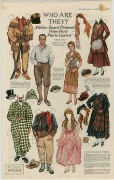Who Are They? Peter Pan movie contest paper dolls. Mary Pickford Delineator Magazine #1 March 1917 / thestrong.org