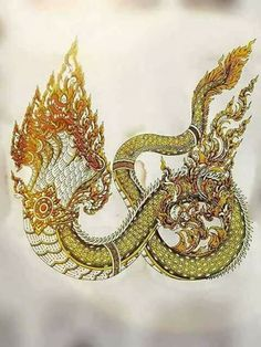 """Shesha"" in Sanskrit texts, especially those relating to mathematical calculation, implies the ""remainder""—that which remains when all else ceases to exist. Dragon Tattoos For Men, Thai Design, Thailand Art, Thai Tattoo, Thai Art, Dragon Design, Buddhist Art, Dragon Art, Sketch Design"