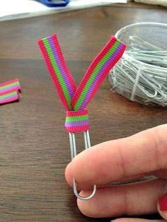 Paperclip Ribbon Bookmark Tutorial