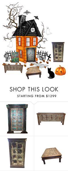 Antique Halloween Furniture by era-chandok on Polyvore featuring interior, interiors, interior design, home, home decor, interior decorating and rustic
