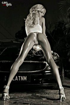 Bet that car is not near as hot as she is???
