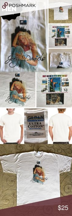 Graphic Tee Joey Daniels XXL Cotton Gildan Gildan Activewear ultra cotton heavyweight 2XL 100% cotton, preshrunk, imported, NWOT, Men's/unisex  Large image of Joey on front with Big3 logo above it. Variety of logos on back per photos.  Joey Daniels, country singer, recorded with Big3 Nashville in 2005, album digitally re-released in 2015.   Large image of Joey on front with big three logo above it. On back a variety of logos, per listing photos. NWOT from smoke free home.  (Photo credit…