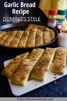 What if your morning starts with Dominos Style Garlic bread. Amazing right? Do try Dominos style garlic bread at home and delight your family. And do not forget to share your experience with us. Garlic Bread At Home, Homemade Garlic Bread, Homemade Food, Bread Recipes, Baking Recipes, Snacks Recipes, Easy Recipes, Healthy Recipes, Keto Recipes