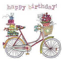 Illustrazione - bicycle - happy birthday