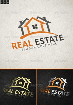 Real Estate Logo Design Template - Buildings Logo Templates Photoshop PSD, Vector EPS, AI Illustrator. Download here: https://graphicriver.net/item/real-estate/6304490?ref=yinkira