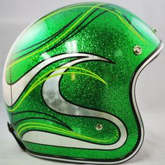 Candy Green custom painted Biltwell.  $299 Available at www.crownhelmets.co  More pics available on our website.