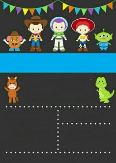 26 Trendy Ideas for toys story invitations invitaciones Toy Story Baby, Toy Story Theme, Toy Story 3, Toy Story Birthday, 2nd Birthday Parties, Birthday Ideas, Toy Story Invitations, Birthday Invitations, Festa Toy Store