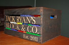 Personalized Primitive Storage Crate by yankeeprimitives on Etsy, $36.95