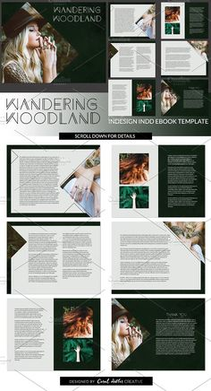 Wandering W. INDD Ebook Template Templates This premade ebook design is great for all you DIYers that need a professional touch on your opt-in by Coral Antler Creative Presentation Design Template, Design Templates, Texture Web, Design Typography, Photoshop, Book Layout, Illustrations, Business Card Logo, Portfolio Design